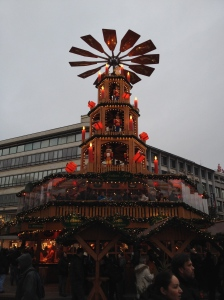 The Christmas Pyramid in the centre of Hannover, 2013.
