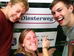 The three Exeter graduates at Diesterweg - Dan, Amy and I!