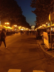 Not such a good photo, but this was the Bahnhofsviertelfest. Typical German - lots of people, lots of food and lots of beer!