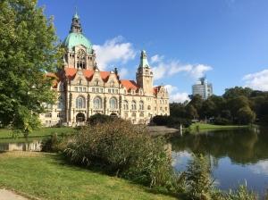 Das Hannover Rathaus.