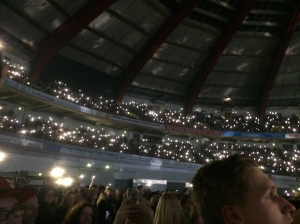 Torches on phones on.