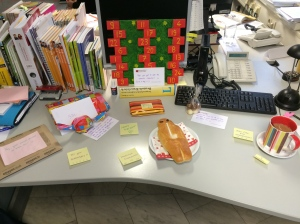 My desk on my birthday!
