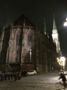Sankt Sebaldus Kirche by night.
