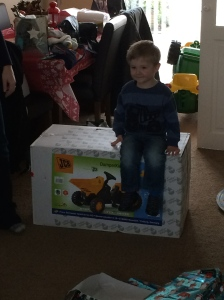 Very excited little man!