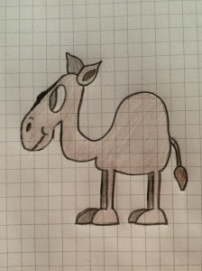 11/01 - I was asked to draw a camel and this was the result. I'm quite impressed with myself!