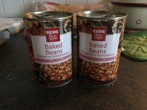 09/02 - Baked beans from Rewe!