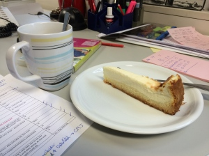 19/02 - Cake always helps at work.