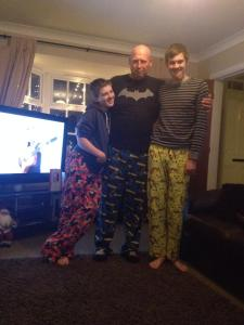 Christmas Eve in 2013 with our pyjamas from Father Christmas!
