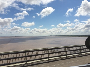 09/06 - Going over the Humber Bridge.