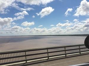 09/06 - Going over the Humber Bridge.