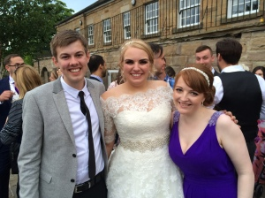 27/06 - With Ellie and Beccy, the bride and a bridesmaid!