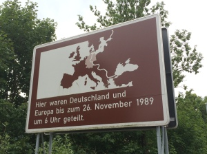 Here, Germany and Europe were separated until 26th November 1989 at 6 o'clock.