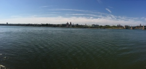 The Rhine in Mainz.