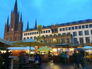 The Weinfest in Wiesbaden.