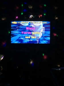 14/08 - We went to a karaoke bar. This was one of my choices of song, of course.