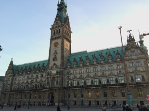 26/10 - First stop, Hamburg. Here's the Rathaus / town hall.