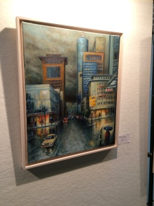 30/10 - This is a painting of Frankfurt. Way to catch the gloominess of the city, painter.