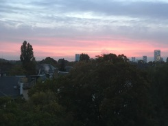 17/10 - A beaming red sky in the morning!