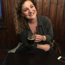 Enjoying dark beer at U Flecku!