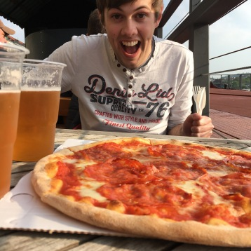 Pizza, beer and sun - what more could you want?