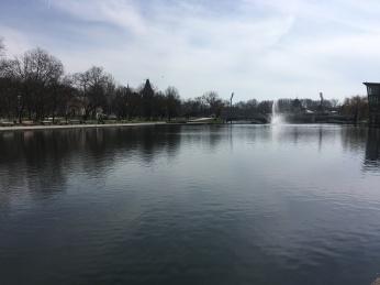 The Városligeti-tó; a small lake on the outskirts of the city.