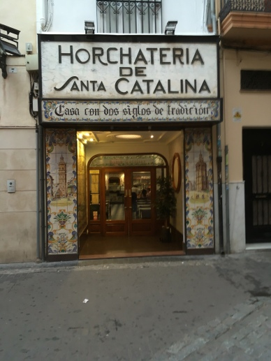 The small Horchateria where we had our tiger nut milk.